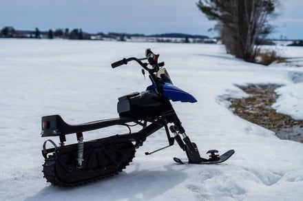 The Naseka electric snowmobile is built for kids, but you'll likely want one too