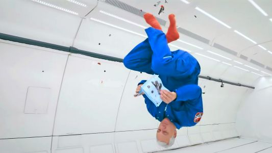 Watch Astronaut Mike Massimino Build a Lego Mars Shuttle in Zero Gravity