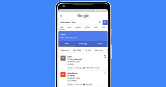 Google Search now helps you hunt for jobs in India