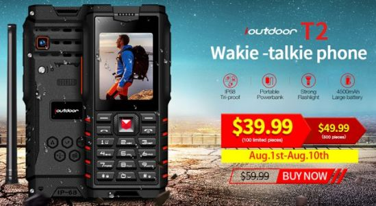 World's First Walkie-Talkie IP68 Rugged Phone ioutdoor T2 Now Only $39.99, Plus Giveaway!