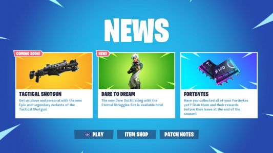 Fortnite 9.40 Patch Adds New Tactical Shotguns