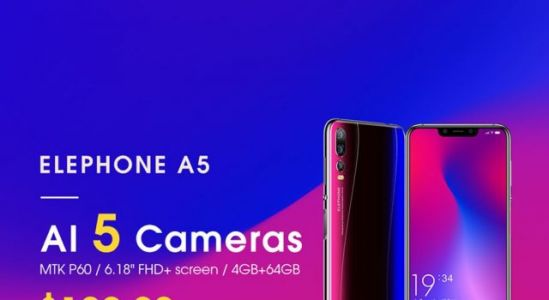 ELEPHONE A5 with triple cameras launching on December 3rd