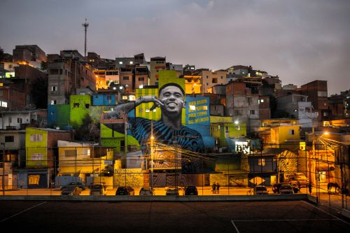 Adidas mural celebrates young football legend