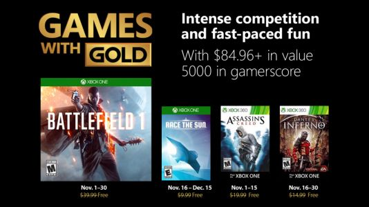 Games With Gold For November 2018 Are Now Available