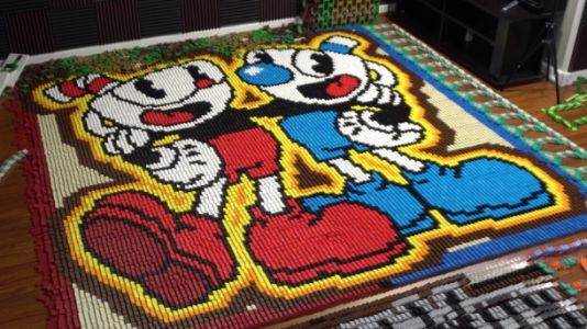 Artist Creates Cuphead Tribute With More Than 22,000 Dominoes