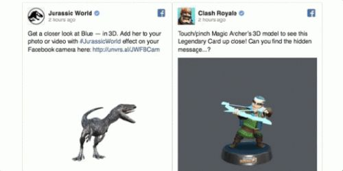 Facebook fuses VR, News Feed with 3D posts