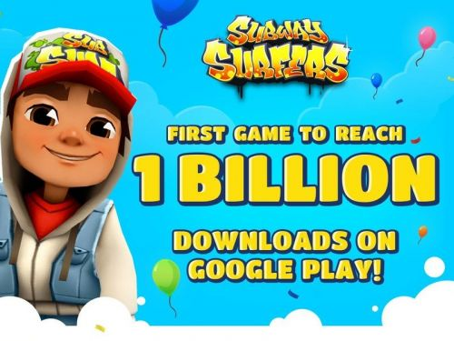 Subway Surfers is the first game to hit 1 billion downloads on the Play Store