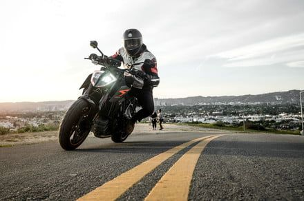 Unleash the power of the hellacious new KTM 1290 Super Duke R