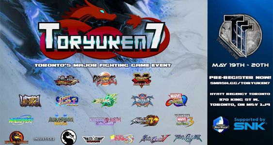 Streaming and event information for Canada's eclectic major Toryuken 7: May 19-20 in Toronto, Ontario