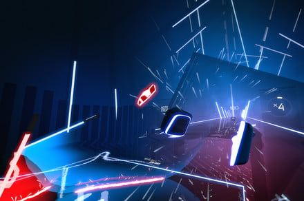 'Beat Saber' is the virtual reality game designed for rhythmic Jedi