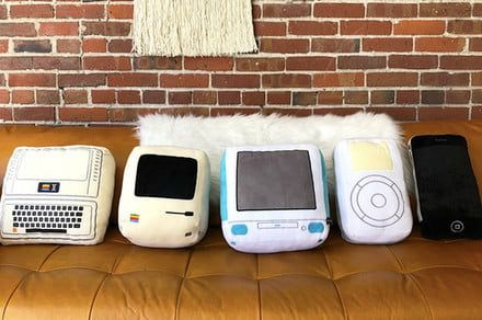 Apple aficionados, these cute pillows are made just for you