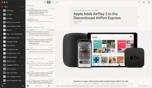 Reeder RSS App Temporarily Free for Mac and iOS