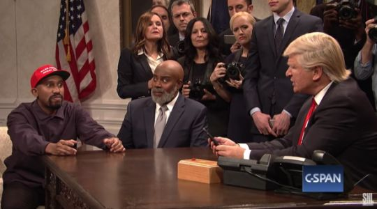 Watch 'SNL' hilariously spoof Kanye West's lunch meeting with Donald Trump