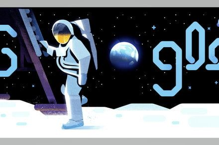 Today's Google Doodle celebrates the 50th anniversary of the moon landing