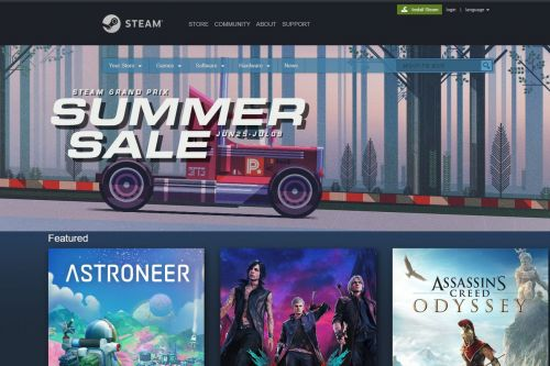 Steam's 2019 summer sale discounts popular games like Devil May Cry 5, Soulcalibur VI, and more