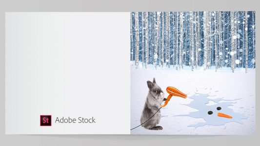 Design a Christmas card with Adobe Stock and InDesign CC