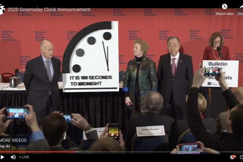 The Doomsday Clock is now at 100 seconds to midnight