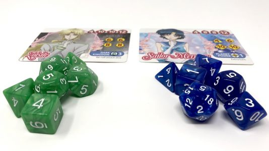 Fighting Evil By Tabletop: Sailor Moon Crystal Dice Challenge