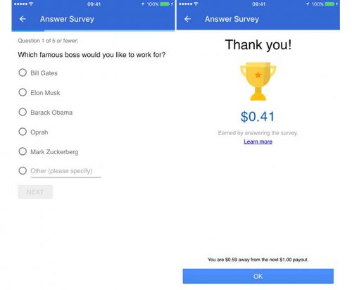 Google Opinion Rewards arrives on iOS, will pay you to take surveys