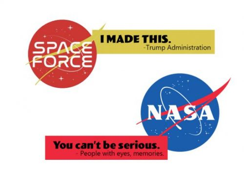 Trump just put Space Force logos up for online voting