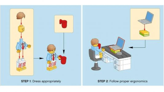 Lego's comical guide to working from home will brighten your day