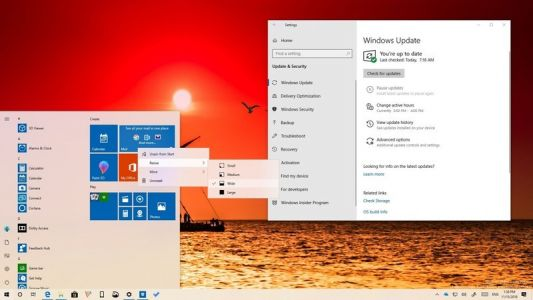 All the changes included in Windows 10 build 18282