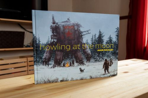 Jakub Rozalski's Howling at the Moon is a beautiful art book that merges real and fictional worlds