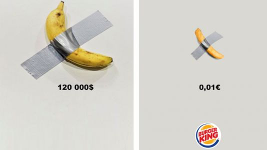 Burger King trolls banana artwork with a French fry
