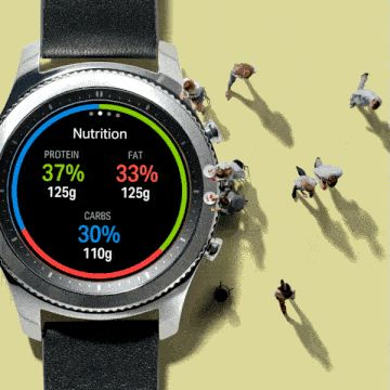 Track your nutrition on the go with the Gear S3