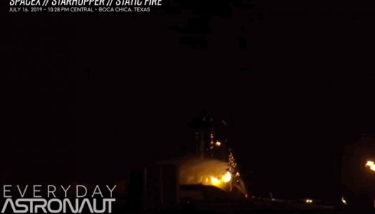 SpaceX's 'Starhopper' bursts into flames during static fire test