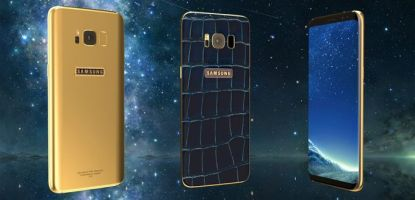 Legend's Galaxy S8 is made with 24k gold and crocodile leather