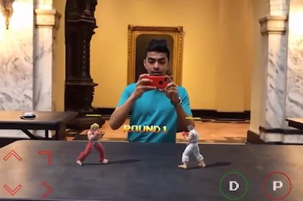 One developer can play 'Street Fighter II' anywhere with his AR port