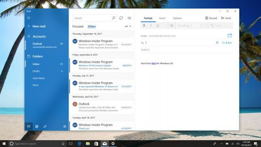A closer look at Microsoft's updated Mail and Calendar apps with Fluent Design on Windows 10