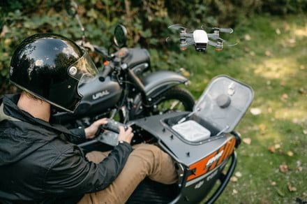 World's first drone-equipped motorcycle features a special space for the Spark