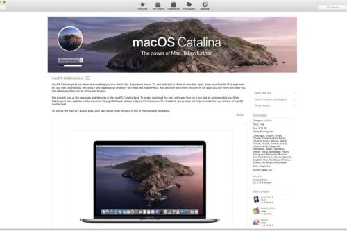 MacOS Catalina 10.15 Public Beta is now available