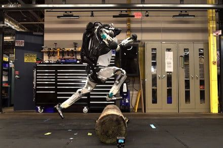 Watch Boston Dynamics' humanoid robot leap up massive steps like it's nothing