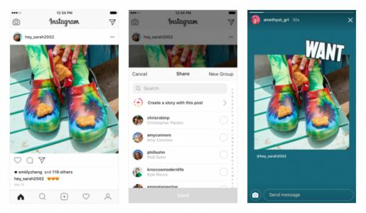 Instagram update adds post resharing to Stories