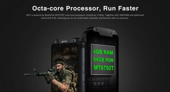 OUKITEL WP2 Rugged Phone with 10000mAh Battery can also run Games Fluently
