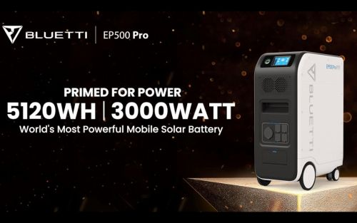 Bluetti EP500 Pro 5.1kWh Power Station - home power backup on wheels