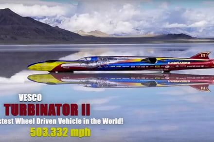 At 503 mph, Turbinator II is the world's fastest wheel-driven vehicle