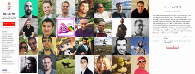 Tech entrepreneur responds to missing out on the Forbes 30 under 30 in the most epic way