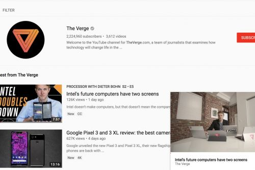 YouTube introduces mini-player for desktop browsers