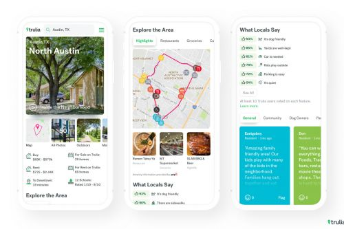 Trulia Neighborhoods lets you see crowdsourced local reviews of an area before you move in