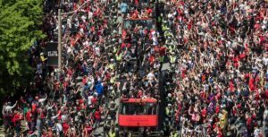 9.5 million Canadians watched the Toronto Raptors parade on TV