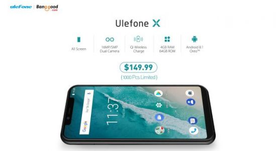 Ulefone X All-Screen phone now available at just $149.99