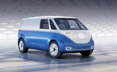 This van version of VW's electric Microbus could beat it to market