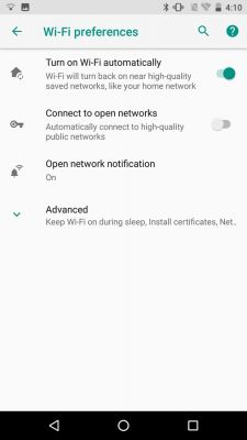 Android O Automatically Turns Wi-Fi On Near Saved Networks