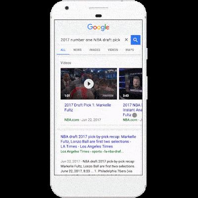 Google Search Getting Video Result Previews On Android