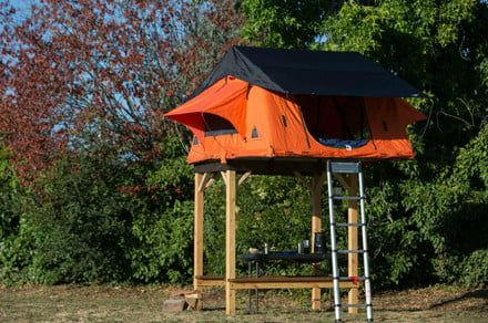 The Tepui SkyCamp brings rooftop tent camping to solid ground