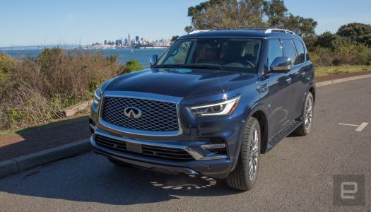 The Infiniti QX80 is too pricey to have this little tech